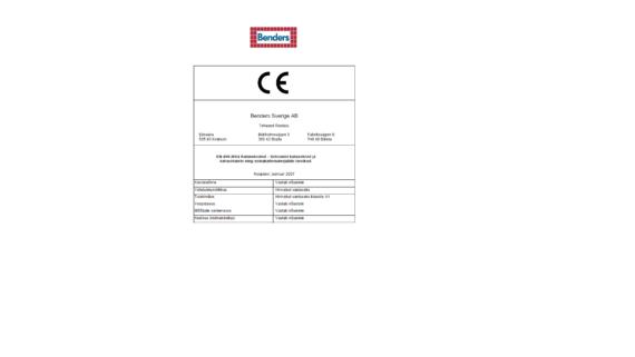 Benders katusematerjali CE märgis