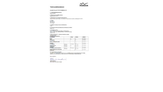 Divoroll Top Ru aluskattekile toimivusdeklaratsioon