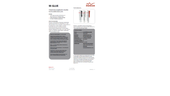 M Glue liimtihendusmass tooteleht