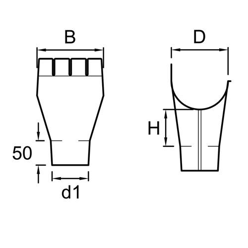 Vihmaveerenni allatulek 125/ 90mm