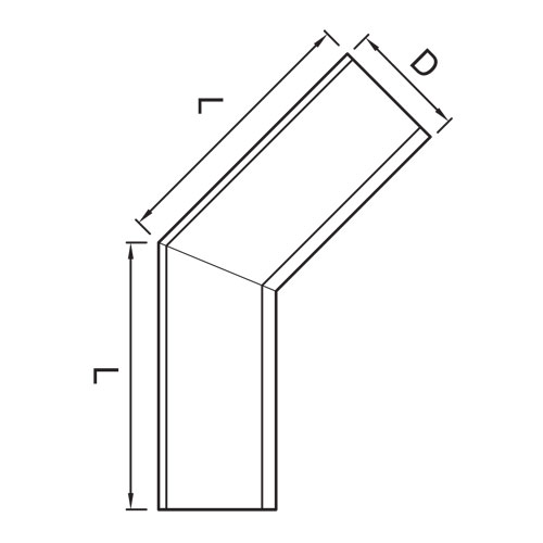 Vihmaveerenni sisenurk 135˚ 150mm