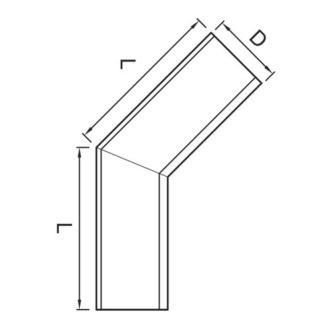 Vihmaveerenni sisenurk 135˚ 125mm