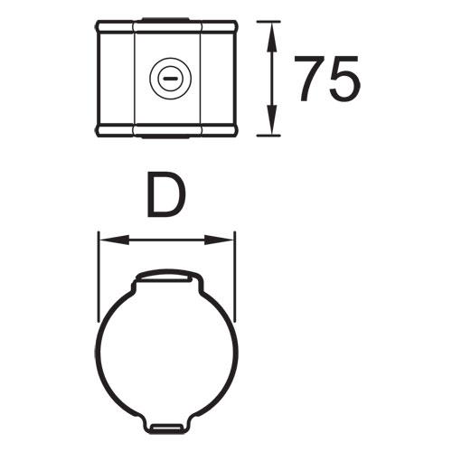 Vihmaveetoru kinnitusklamber kiviseinale 90mm