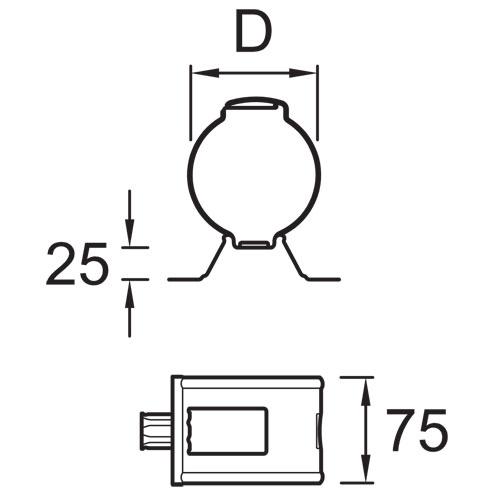 Vihmaveetoru kinnitusklamber puitseinale 100mm