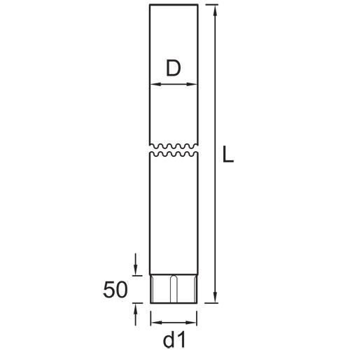 Vihmaveetoru 90mm 1m