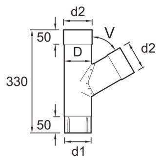 Vihmaveetoru Y-liide 90mm